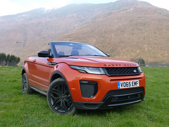 The new convertible Range Rover is a strange looking vehicle!