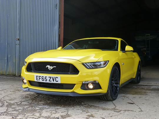 The right hand drive UK Mustang is incredibly easy on the eye!