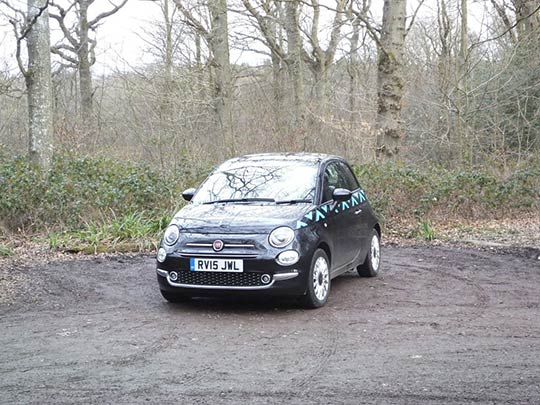 Fiat 500: Front View Review