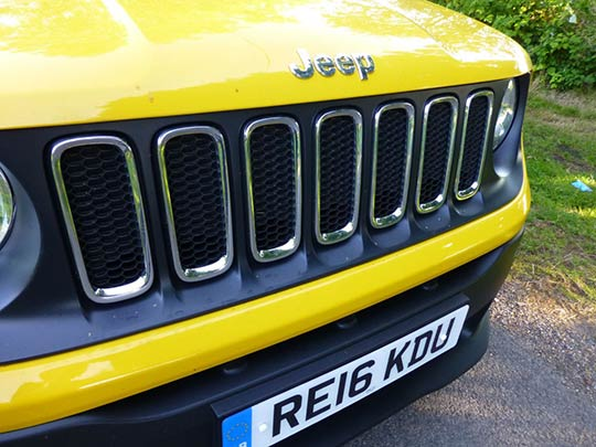 Jeep Renegade Review - Yellow