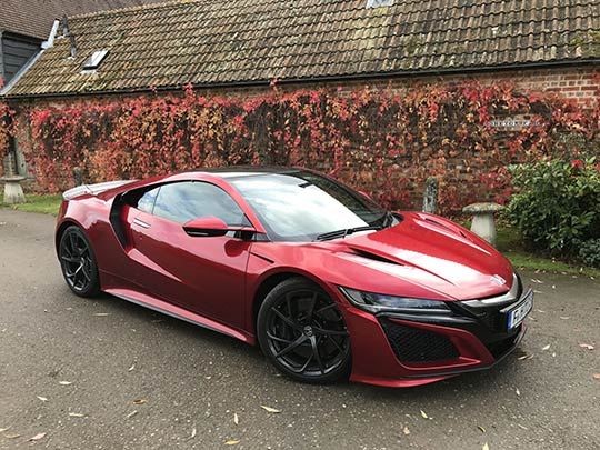 Honda NSX Review, a side view of the Honda NSX