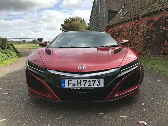 Front of the Honda NSX