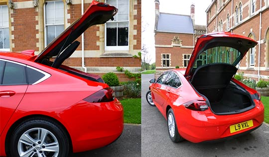The Vauxhall Insignia Grand Sport has plenty of passenger room but is let down by the size of the 490 litre boot