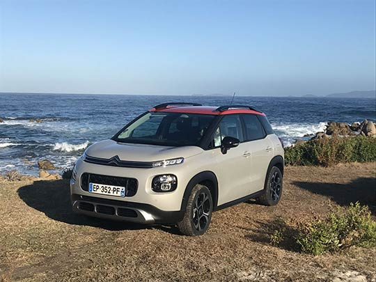 The Citroen C3 Aircross has a range of colour combinations to chose from.