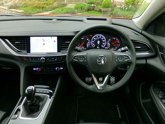 The Vauxhall Insignia Grand Sport car handles well behind the wheel combining performance and ride comfort