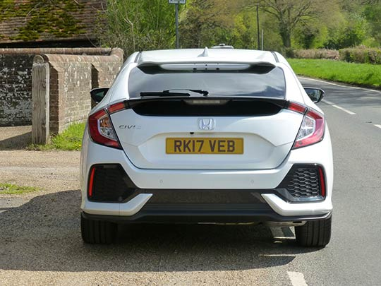 The Honda Civic is a family pleaser with plenty of rear legroom and a decent sized boot