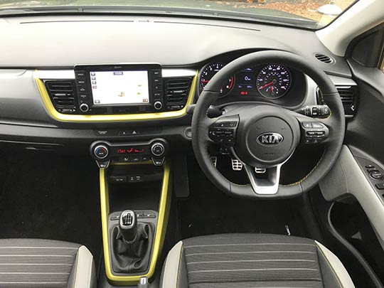 The personalised colour scheme continues inside the cabin of the new Kia Stonic