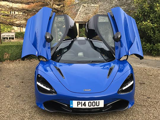 Sue Baker reviews the McLaren 720S and boasts the dihedral doors open like a bird