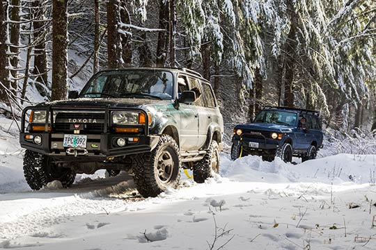 The best cars for driving on ice are those with a four-wheel drive, preferably a 4x4.