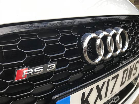 The Audi RS3 is well-equipped including a digital cockpit instrument display with its 12-inch wide screen and standard satnav with Google mapping