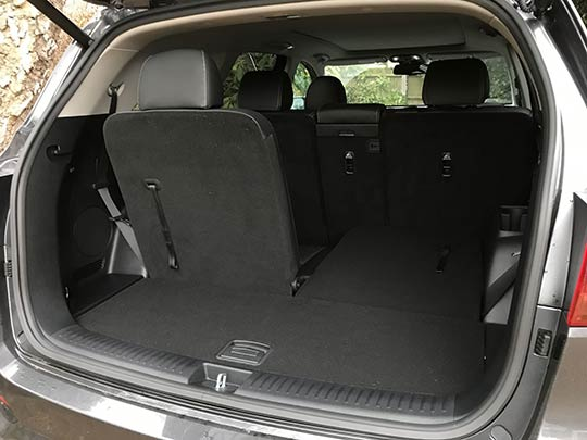 The Kia Sorento has plenty of room for seven adults, and a large boot when the back seats are folded
