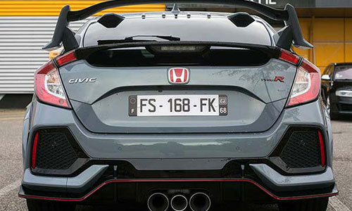 honda civic back